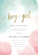 Sprayed - Gender Reveal Invitation