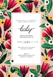 Spring Hug - Invitación De Baby Shower