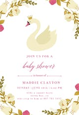 Swan - Baby Shower Invitation