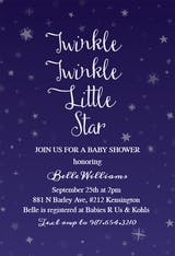 Twinkle Little Star - Baby Shower Invitation