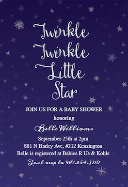 Permalink to Twinkle Twinkle Little Star Invitation Template