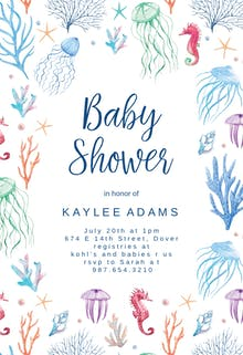 Free baby shower invitation templates for boys greetings island under the sea baby shower invitation filmwisefo