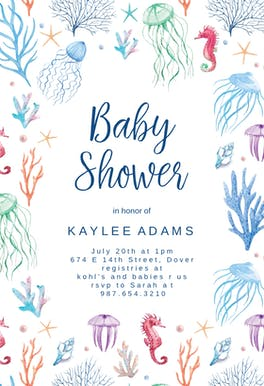 Under The Sea - Baby Shower Invitation