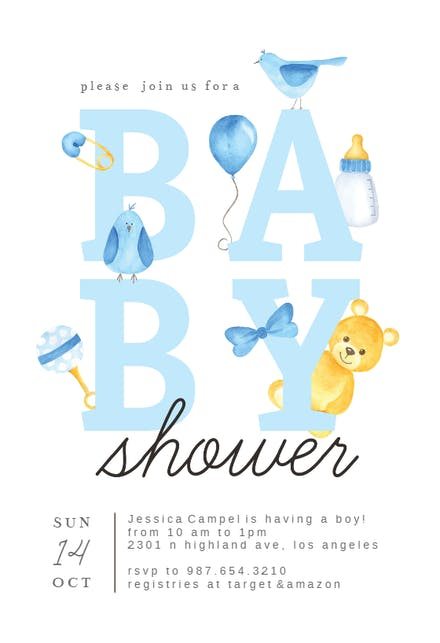 Invitaciones Para Baby Shower Gratis Greetings Island