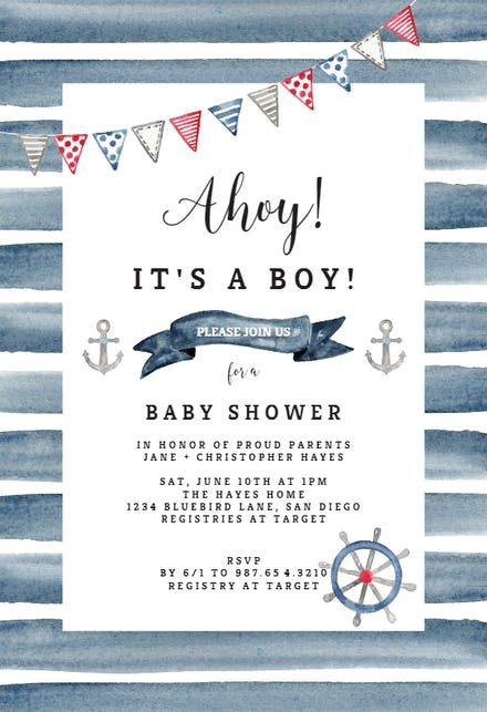 Virtual Baby Shower Sign