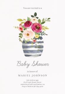 Whimsical vase - Baby Shower Invitation