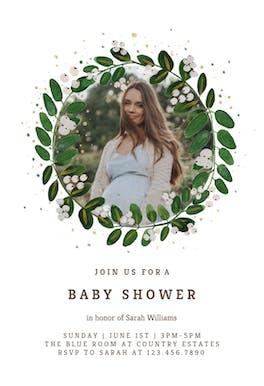 White Bloom - Baby Shower Invitation