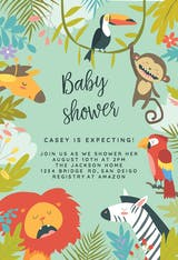 Wild Animals - Baby Shower Invitation