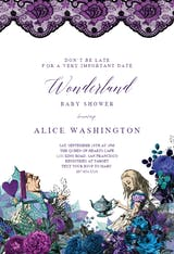 Wonderland Tea Party - Baby Shower Invitation