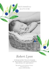 Blueberry fields - Baptism & Christening Invitation