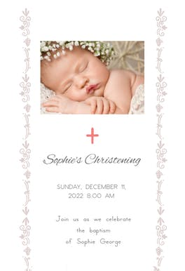 Delicate Accents - Baptism & Christening Invitation