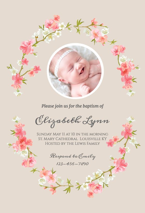 Personalised Photo Christening Invitations /& Envelopes CH18 Baptism Invites
