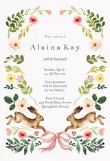 Spring bloom - Baptism & Christening Invitation