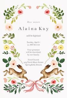 Spring bloom - Baptism & Christening Invitation