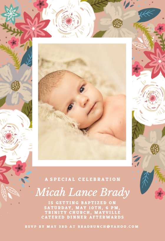 Baptism Christening Invitation Templates free Greetings Island