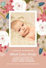 Vivid floral - Baptism & Christening Invitation