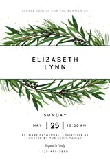 Winter Wreath - Baptism & Christening Invitation