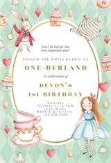Onederland - Birthday Invitation