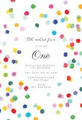Confetti Party - Birthday Invitation