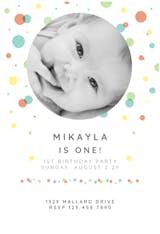Dancing Dots - Birthday Invitation