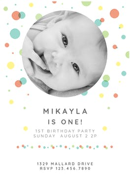 Dancing Dots - Birthday Invitation Template
