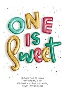 First Balloons - Birthday Invitation