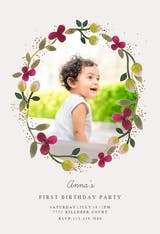 Floral Happiness - Birthday Invitation