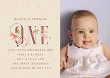 Floral one - Birthday Invitation