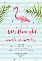 Let's flamingle ! - Birthday Invitation