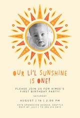 Little sunshine bday - Birthday Invitation