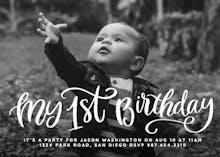 My 1st Birthday - Birthday Invitation