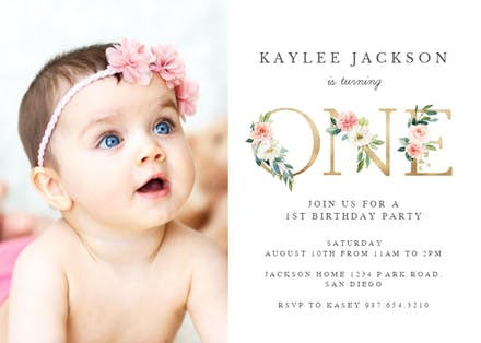 Incredible 1St Birthday Invitation Templates Free Greetings Island Funny Birthday Cards Online Inifofree Goldxyz