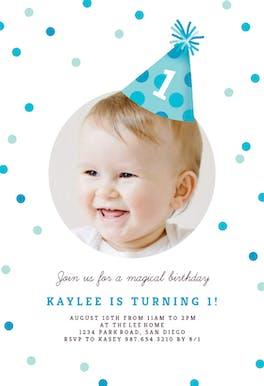Party Hat - Birthday Invitation