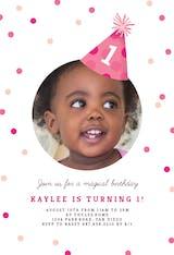 Party Hat - Invitación de Cumpleaños