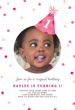 Party Hat - Birthday Invitation