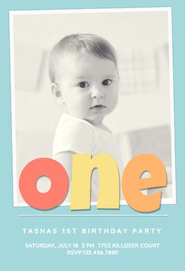 Photogenic Baby Blue - Birthday Invitation Template