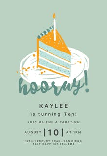 Piece of cake - Birthday Invitation