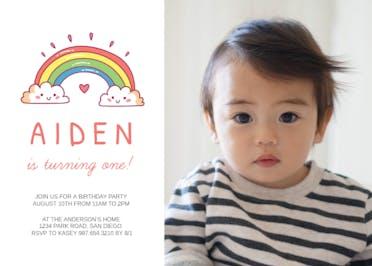 Rainbow - Birthday Invitation