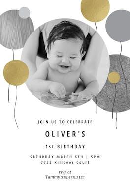 Surrealism balloons - Birthday Invitation