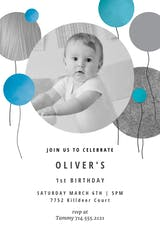 Surrealism balloons - Birthday Invitation