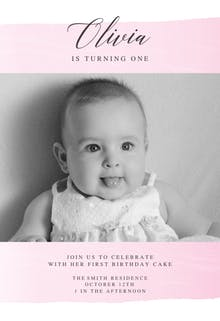 Take a Step - Birthday Invitation