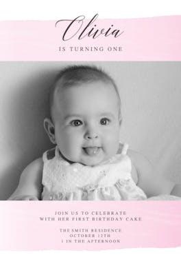 Take a Step - Birthday Invitation