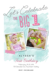 1st birthday invitation templates free greetings island the big one girl birthday invitation filmwisefo