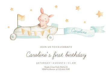 Tiny driver - Birthday Invitation