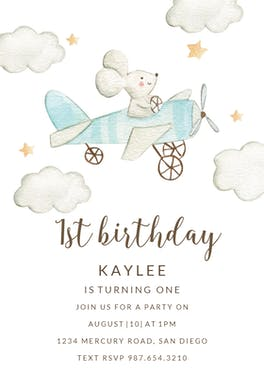 Tiny pilot - Birthday Invitation