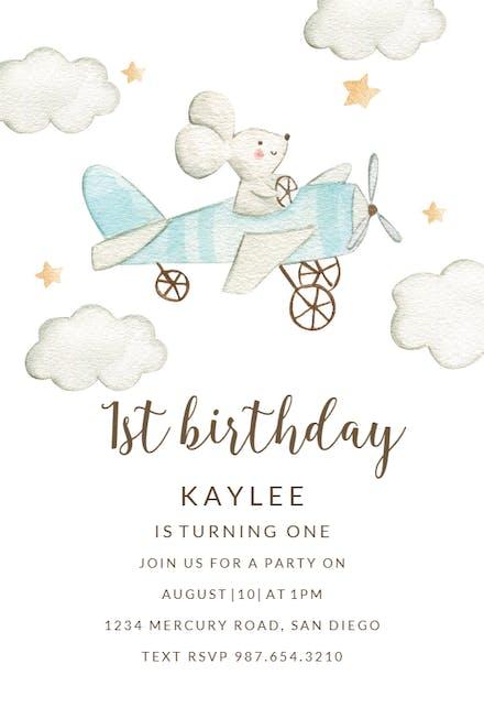 Baby Birthday Invitation Templates Free