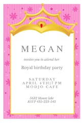 A Little Princess - Birthday Invitation