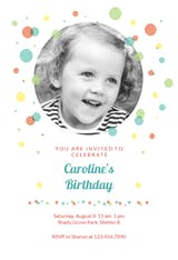 Balloon Drop - Birthday Invitation