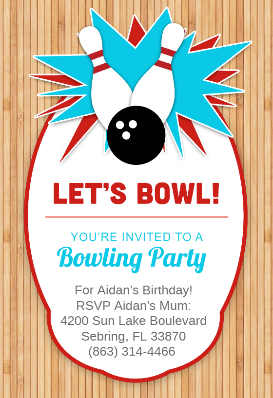 picture about Printable Bowling Party Invitations named Bowling Bash Invitation Template (No cost) Greetings Island
