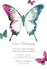 Butterflies - Invitación de Cumpleaños